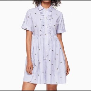 Kate Spade Abuzz Poplin Shirt Dress